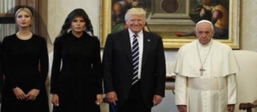 Donald Trump meets Pope Francis, via Twitter