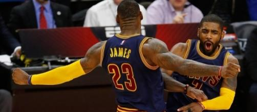 LeBron recognized Kyrie's awesome night and gave him props for it.- usatoday.com