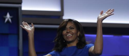 Michelle Obama looks happy and glowing after leaving the White House. Photo - aol.com