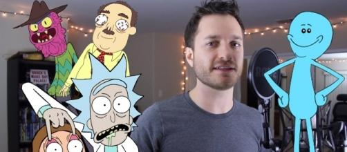 Rick and Morty Impressions by Brock Baker [youtube screengrab]