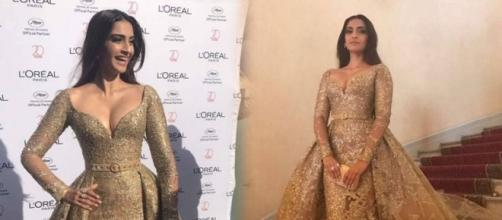 Sonam Kapoor is all about gold and glamour at Cannes red carpet ... - indiatimes.com