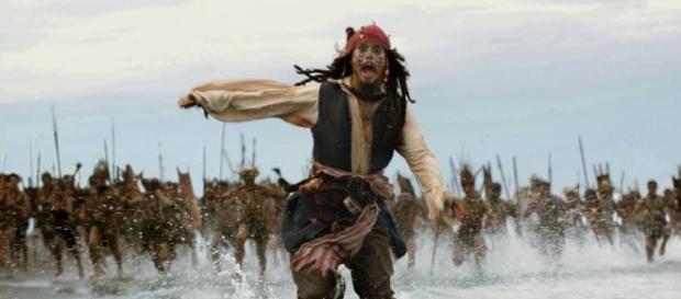 Jack Sparrow representado por Johnny Depp