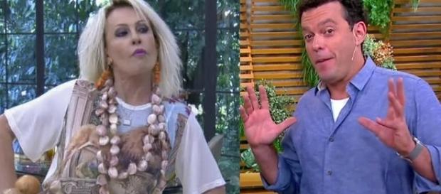 Os apresentadores do 'Bem Estar' resolveram pedir um pedacinho de frango como desculpa ( Foto - Rede Globo )
