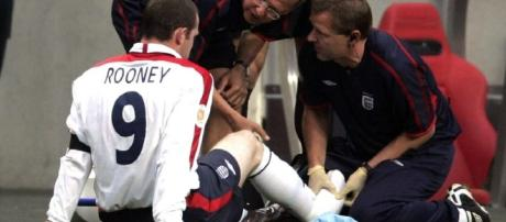 The end of Rooney's, and England's Euro 2004 tournament