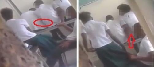 Alunos foram flagrados em uma escola pública na República Dominicana (Foto: Google)