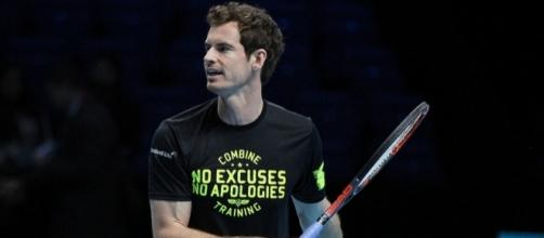 British tennis player Andy Murray during a practice session. Photo by Marianne Bevis --CC BY-ND 2.0