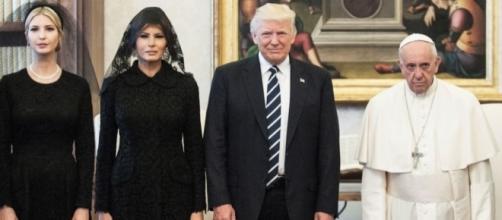 Donald Trump meets Pope Francis with Melania and Ivanka. (Photo: flipboard)
