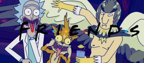 FRIENDS and Rick & Morty Mashup [youtube screengrab]