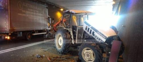 Incidente a Clusone, coinvolti un camion e un mezzo agricolo