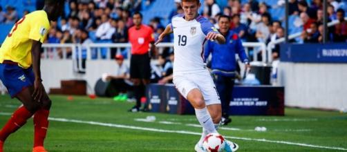 Josh Sargent in action against Ecuador ... - mlssoccer.om