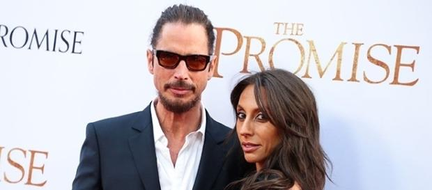 Chris Cornell and his wife Vicky Karayiannis in happier times. - IMDB