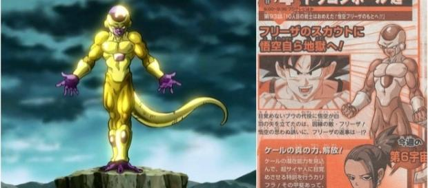Golden Freezer en el scan de la revista Shonen Jump