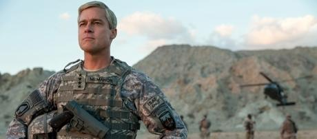 Brad Pitt as Gen. Glen McMahon in 'War Machine' | by FrancoisDuhamel / netflix.com - used with permission