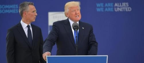 Donald Trump blasts Nato during tubthumping Brussels speech saying ... - thesun.co.uk