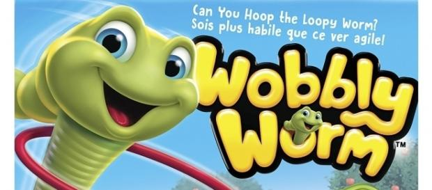 """Wobbly Worm"" is intended for young children but adults can enjoy the game as well. / Photo via Brady Lang, Spin Master. Used with permission."