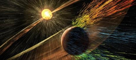 NASA reveals how Mars solar winds stripped the planet's atmosphere ... - dailymail.co.uk