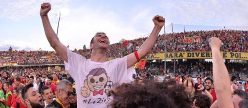 La festa per la Serie B dell'anno scorso.