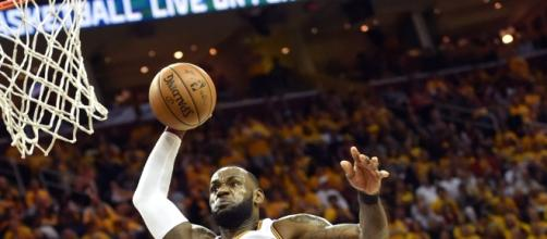 LeBron James surpassed Michael Jordan's record as NBA's playoff scoring leader. Photo - theundefeated.com