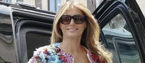 Melania Trump Turns Heads in $51,000 3D Flower Jacket - Photo: Blasting News Library - f3nws.com