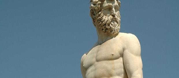 Imagen de una estatua en Florencia, Italia