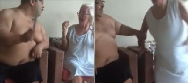 Polícia prende homem flagrado em vídeos agredindo a mãe