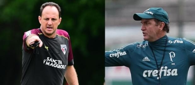 Rogério Ceni e Cuca se enfrentarão pela primeira vez
