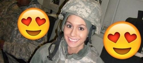 a militar americana que vem causando na internet