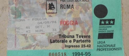 Roma-Foggia, il biglietto della partita