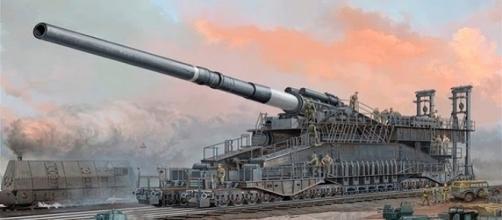 """El """"Gustav"""" o """"Dora"""", los cañones más grandes de la Historia."""