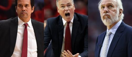 Erik Spoelstra, Mike D'Antoni, or Gregg Popovich will be named Coach of the Year - Photo via The Score - scoopnest.com