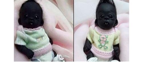 Imagem do boneco que se parecia com um bebê