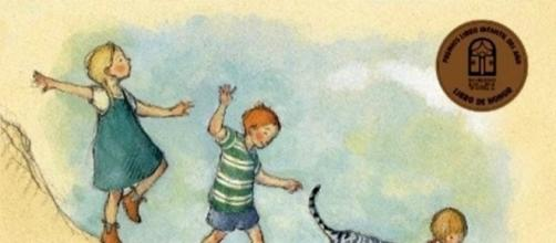 """Libros infantiles sobre las vacaciones de verano: el álbum """"Un día perfecto"""", de Patio Editorial. (Foto personal)"""