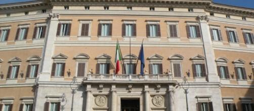 Montecitorio sede della Camera dei deputati a Roma