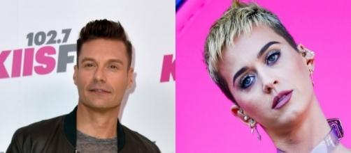 """Ryan Seacrest might not return to """"American Idol"""" due to Katy Perry's salary. Photo - toofab.com"""