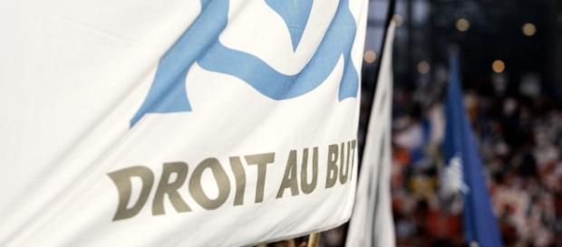 Drapeau de l'Olympique de Marseille