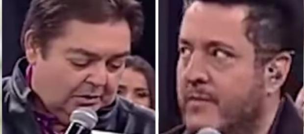 Faustão cutuca Bruno, ao vivo - Google
