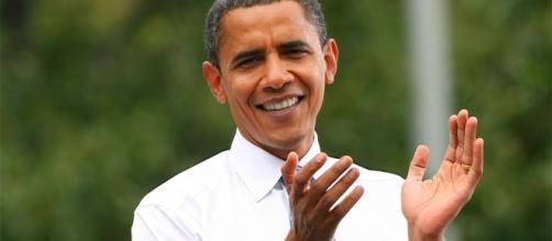 Barack Obama a Milano oggi, 9 maggio 2017.