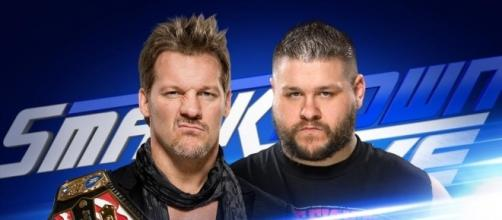 Chris Jericho defended the US title against Kevin Owens on Tuesday's 'SmackDown Live.' [Image via Blasting News image library/wrestling.pt]