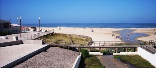 Praia de Paredes da Vitória, no concelho de Alcobaça.