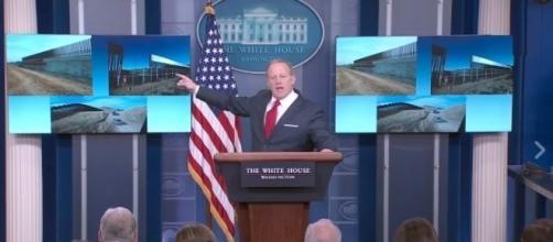 Sean Spicer on border wall, via YouTube