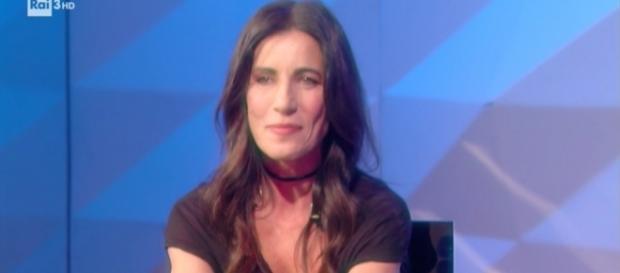 Paola Turci ospite a 'CartaBianca'.