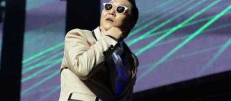 Psy live during one of his performances. (via Psy | Rolling Stone - rollingstone.com)