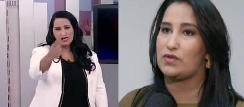 A apresentadora disse que presa pela segurança de seus filhos ( Foto - Rede Record)