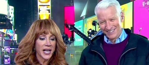 Anderson giggles after Kathy Griffin spray tans him - CNN Video - cnn.com