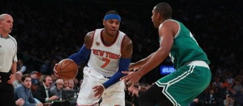 Could the Boston Celtics manage to get Carmelo Anthony from the Knicks? [Image via Blasting News image library/inquisitr.com]