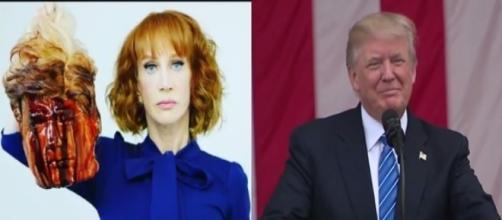 Kathy Griffin, Donald Trump, via Twitter