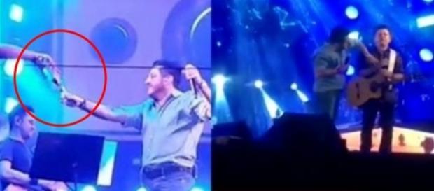 Bruno pede desculpas após fazer show bêbado (Foto: Reprodução/Vídeo)