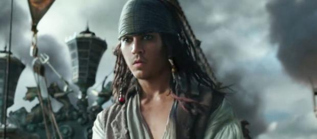 CGI work enables Johnny Depp to portray his character's younger self in fifth 'Pirates' film. / from 'Digital Spy' - digitalspy.com