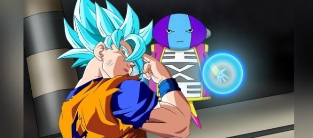 Goku se sacrifica por los Universos perdedores.