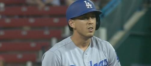 Austin Barnes gives a pinch-hit double, Youtube, MLB channel https://www.youtube.com/watch?v=NYf0eEeivp4